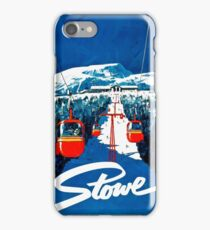 Vintage winter wonderland gondola winter sport snow ski iPhone Case/Skin