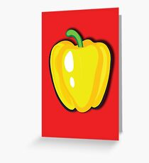 Yellow pepper Greeting Card