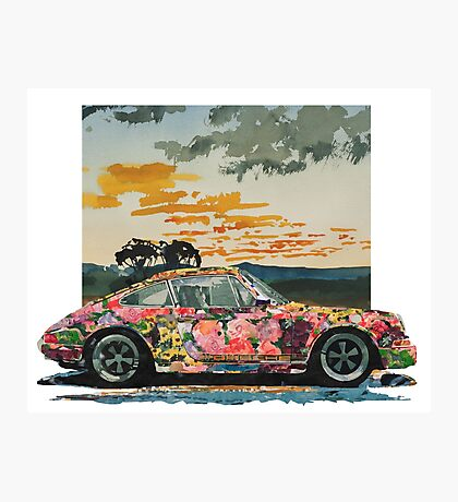Porsche 911 Power Flower Photographic Print