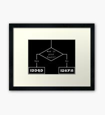Was it your fault? - flowchart Framed Print