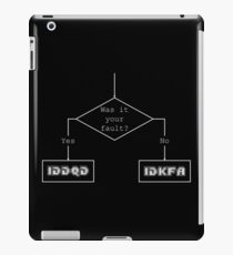 Was it your fault? - flowchart iPad Case/Skin