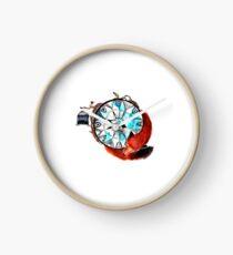 Compass Fox Clock