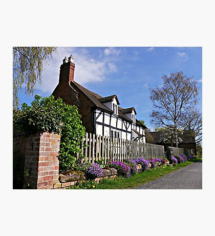 Delightful Cottage in Springtime. Photographic Print