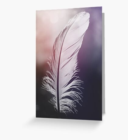 Feather in Pastel Tones Greeting Card