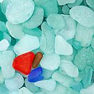 Colorful sea glass by Cebas
