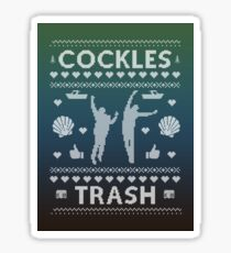 Cockles Trash Ugly XMAS Sweater - White Sticker