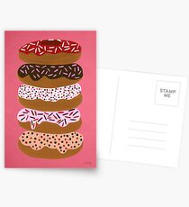Donuts Stacked on Cherry Postcards