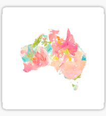 australia floral map Sticker