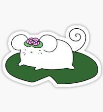 Lilypad Mouse Sticker