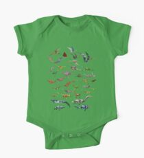 Colored Dinosaurs chart Kids Clothes