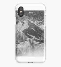 Mountain Lake Graphite iPhone Case/Skin