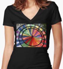 Wind Wheel Women's Fitted V-Neck T-Shirt