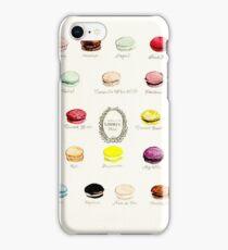 Laduree Macarons Flavor Menu iPhone Case/Skin