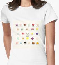 Laduree Macarons Flavor Menu Women's Fitted T-Shirt