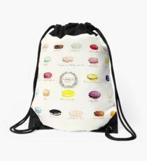 Laduree Macarons Flavor Menu Drawstring Bag