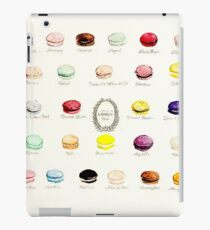 Laduree Macarons Flavor Menu iPad Case/Skin