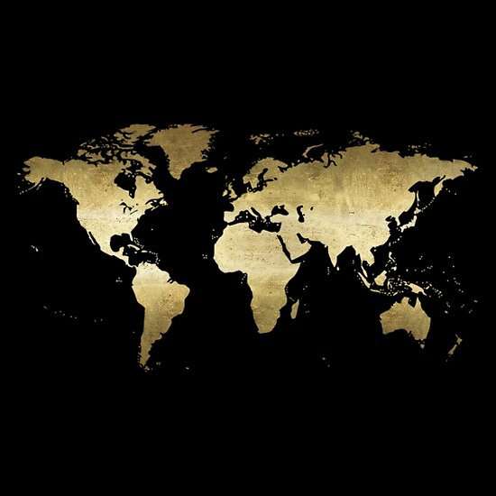 Black and gold world map posters by sweetprovidence redbubble black and gold world map by sweetprovidence gumiabroncs Images