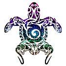 Rainbow Mandala Turtle by Adamhass