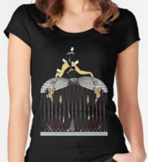 "Art Deco Design by Erte ""Improvised Cage"" Women's Fitted Scoop T-Shirt"