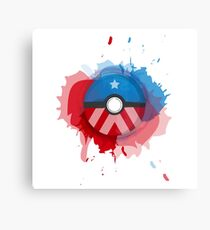Marvel's Captain America - Pokeball - Abstract Canvas Print