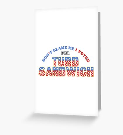 Don't Blame Me... Greeting Card