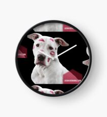 Pit Bull Pink Kisses Clock