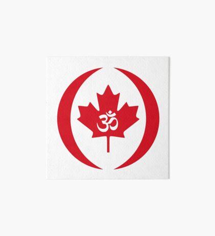 Hindu Canadian Multinational Patriot Flag Series Art Board Print
