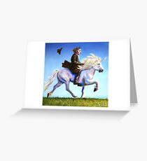 Alan Rickman Rides Again Greeting Card