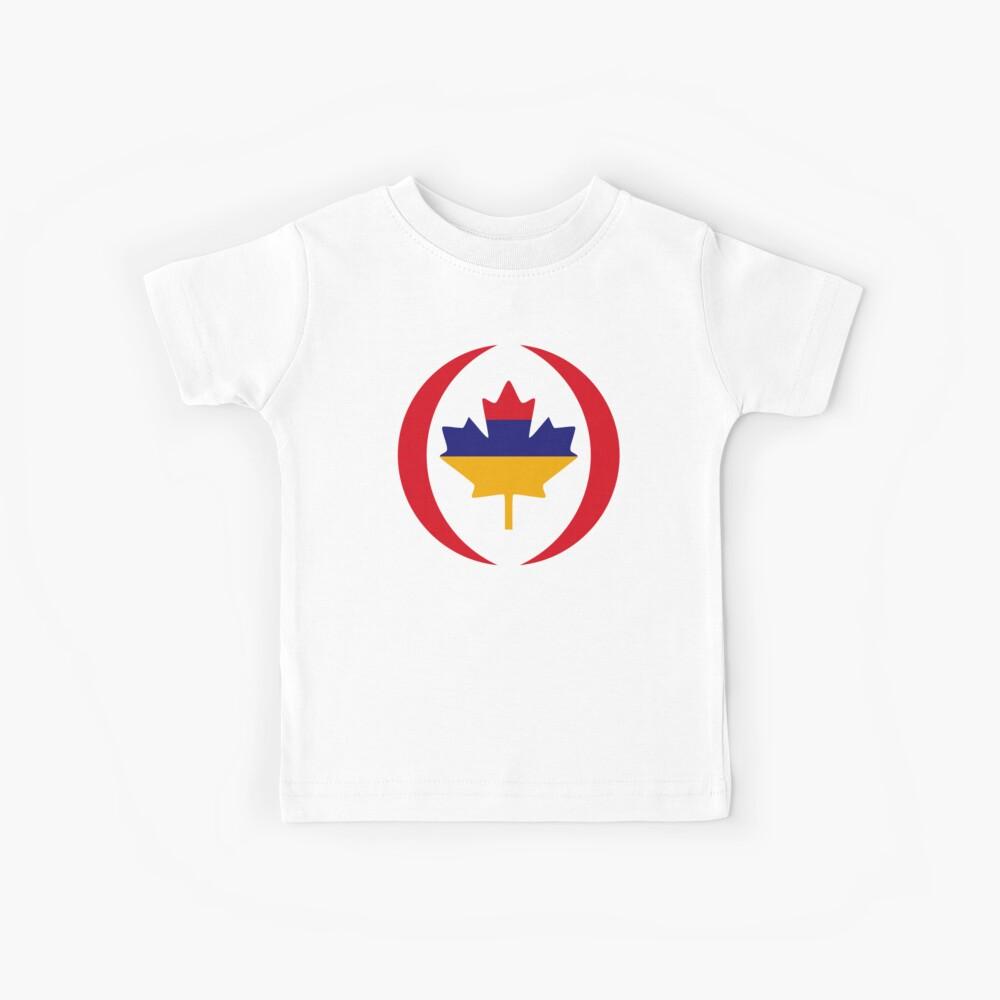Armenian Canadian Multinational Patriot Flag Series Kids T-Shirt
