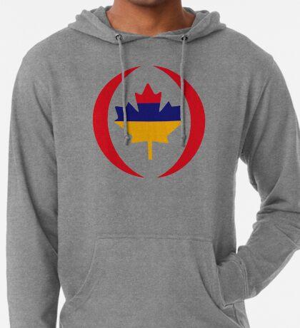 Armenian Canadian Multinational Patriot Flag Series Lightweight Hoodie