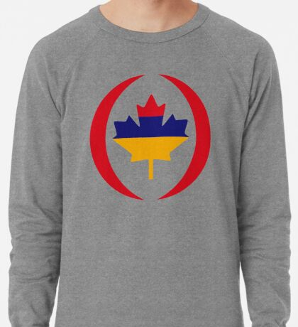 Armenian Canadian Multinational Patriot Flag Series Lightweight Sweatshirt
