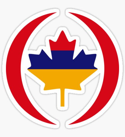 Armenian Canadian Multinational Patriot Flag Series Sticker