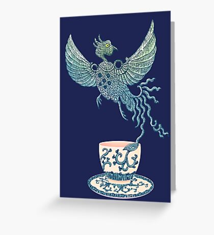 Phoenix Tea Greeting Card