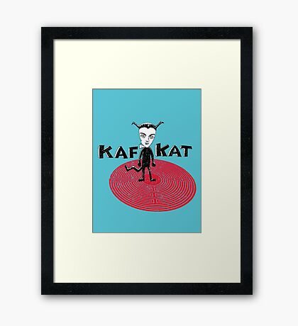 Kafka Cat Metamorphosis Framed Print