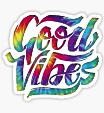 Good Vibes Tie-Dye Sticker