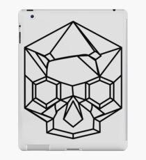Kristallschädel: Schwarzer Umriss iPad-Hülle & Klebefolie