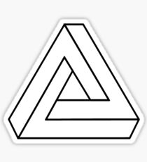 The Impossible Penrose Triangle - Optical Illusion Tribar Sticker