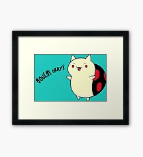 Catbug - Adventure Time - Evil Parody Framed Print