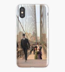 Brooklyn Bridge, New York, 1905 — Colorized iPhone Case/Skin