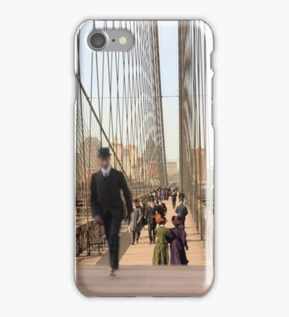 Brooklyn Bridge, New York, 1905 — Colorized iPhone Case/Skin