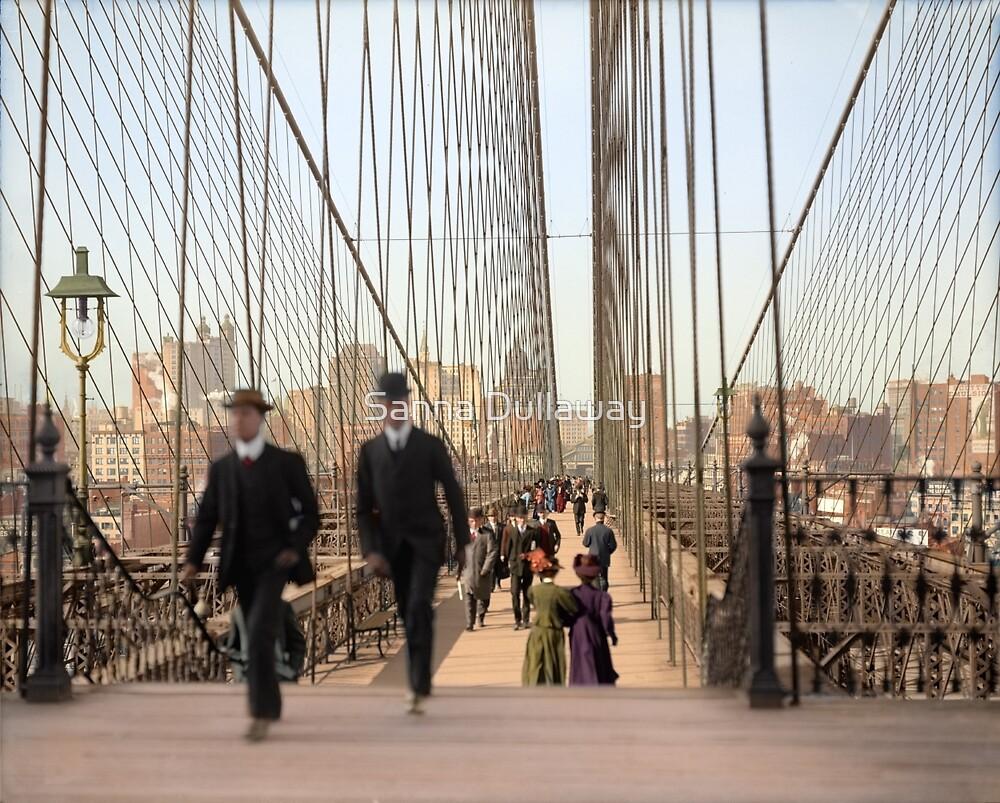 Brooklyn Bridge, New York, 1905 — Colorized by Sanna Dullaway