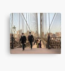 Brooklyn Bridge, New York, 1905 — Colorized Canvas Print