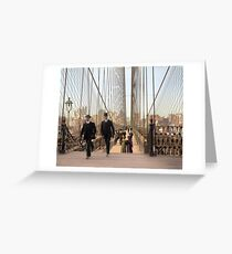 Brooklyn Bridge, New York, 1905 — Colorized Greeting Card