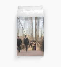 Brooklyn Bridge, New York, 1905 — Colorized Duvet Cover