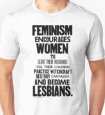 Feminism in Black & White Unisex T-Shirt