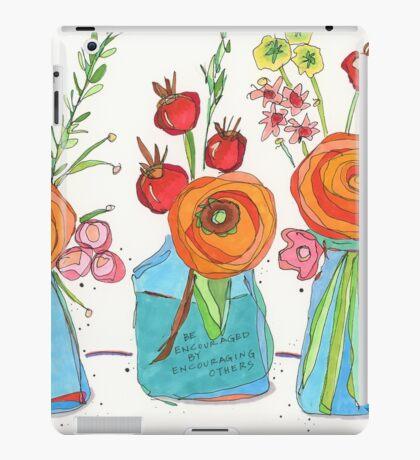 Encouraging Flowers iPad Case/Skin