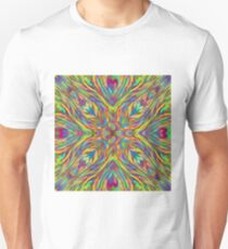 Fractal heart mandala Unisex T-Shirt