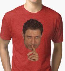 Jeff Goldblum Shush Face Tri-blend T-Shirt
