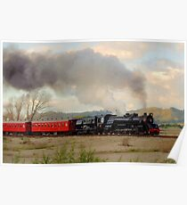 Steam Train Crossing the Plains Poster