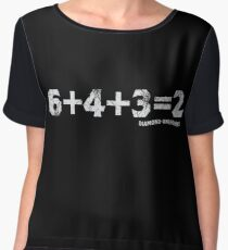 6+4+3=2 Women's Chiffon Top